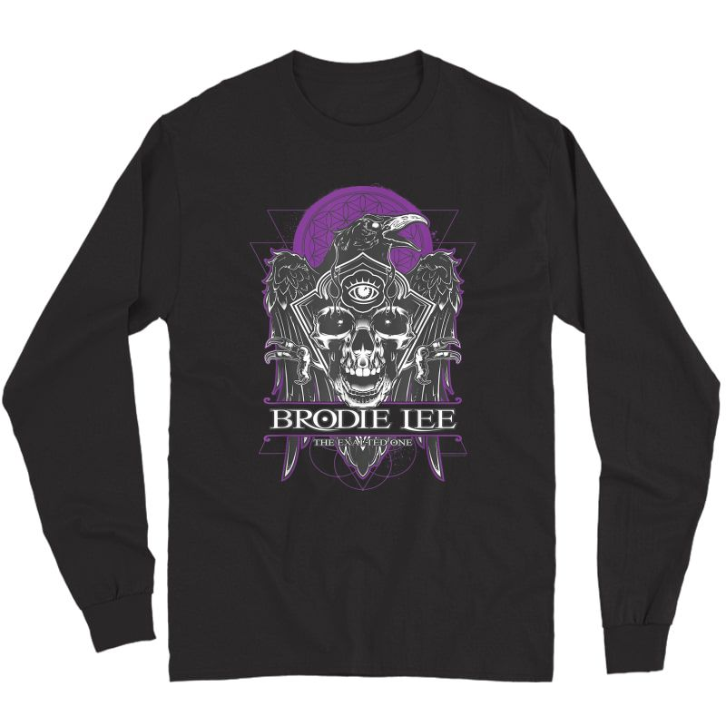 Aew Brodie Lee The Exalted One Raven Logo T-shirt Long Sleeve T-shirt