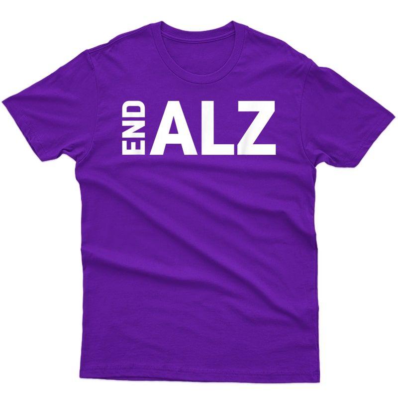 Alzheimer's Awareness Products Purple #endalz End Alz T-shirt