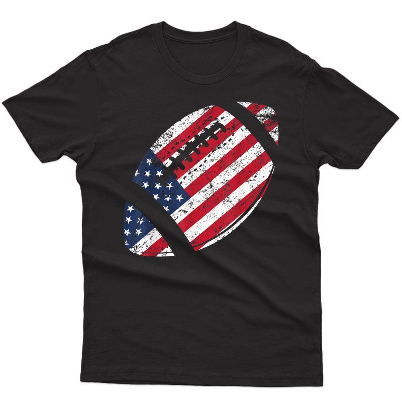 American Football 4th July American Flag Patriotic Gift T-shirt