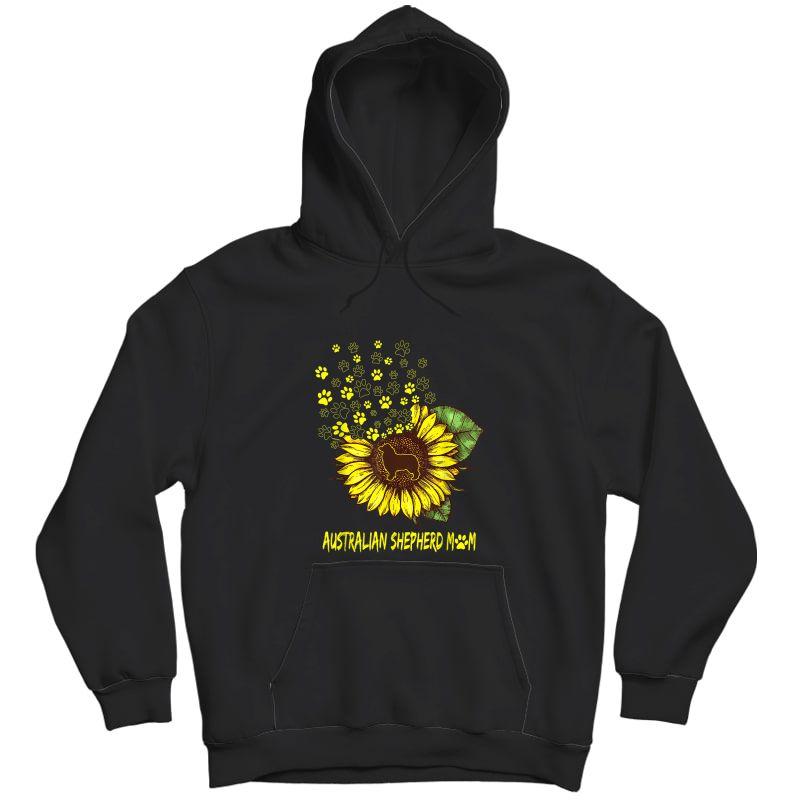 Australian Shepherd Mom Sunflower - Dog Lover T-shirt Unisex Pullover Hoodie
