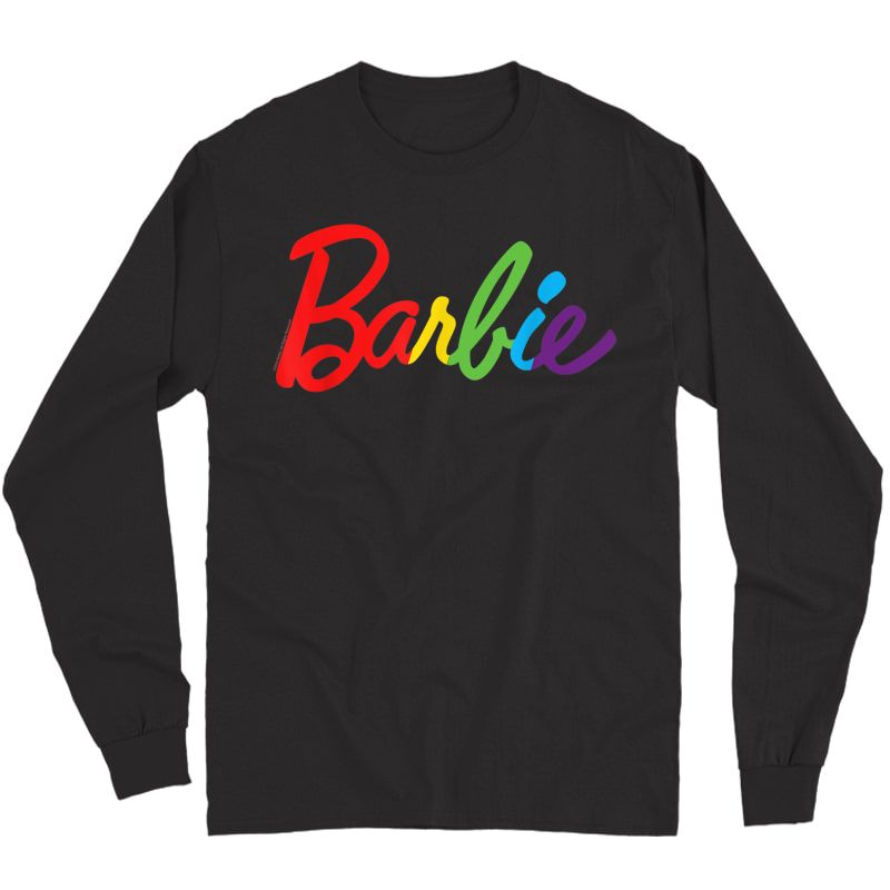 Barbie-rainbow-logo T-shirt Long Sleeve T-shirt