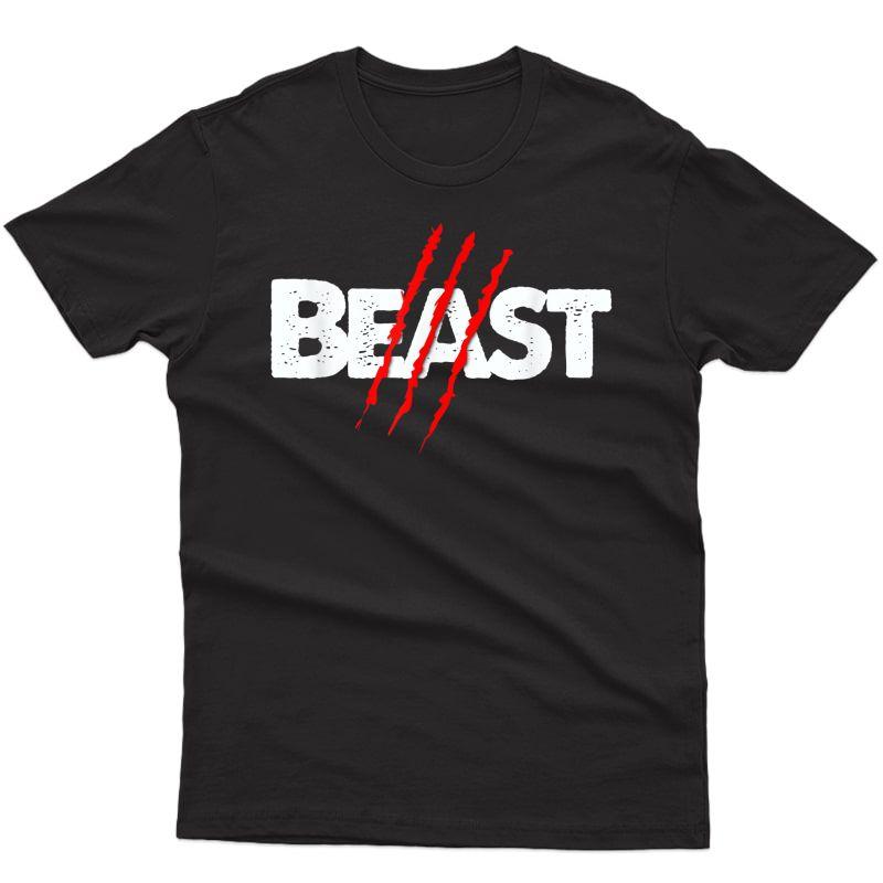 Beast Scratch Beauty Lips Couples Shirt - Beast Workout T-shirt