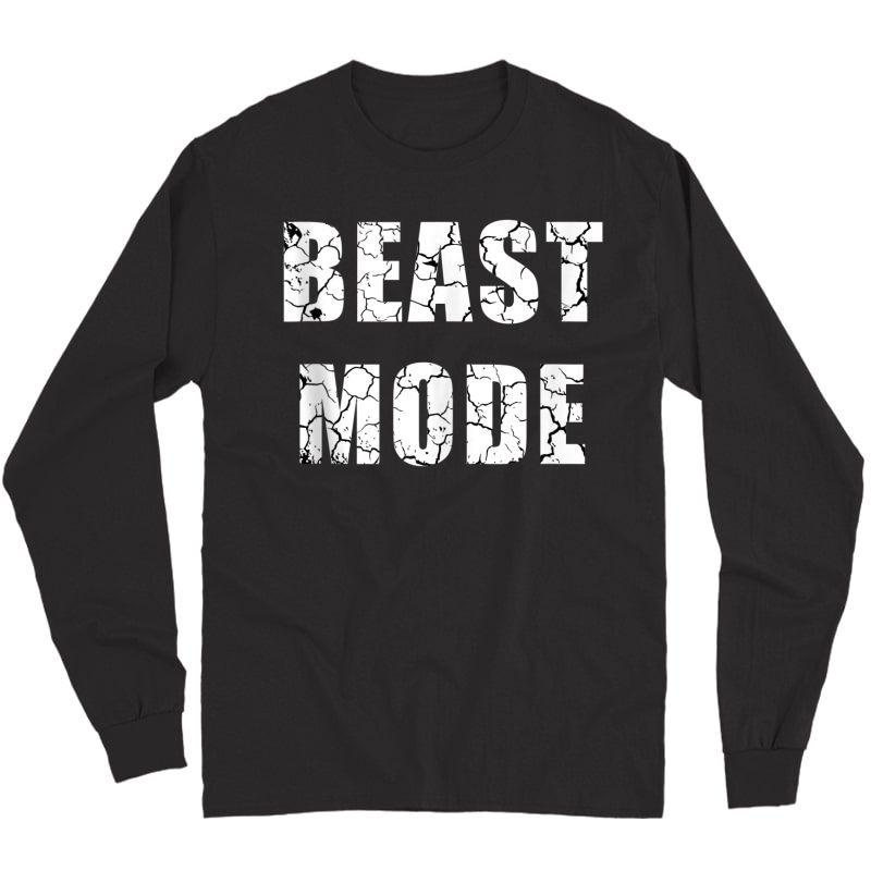 Beast Workout Gym Sport Mode Trendy Cool Looking Tank Top Shirts Long Sleeve T-shirt