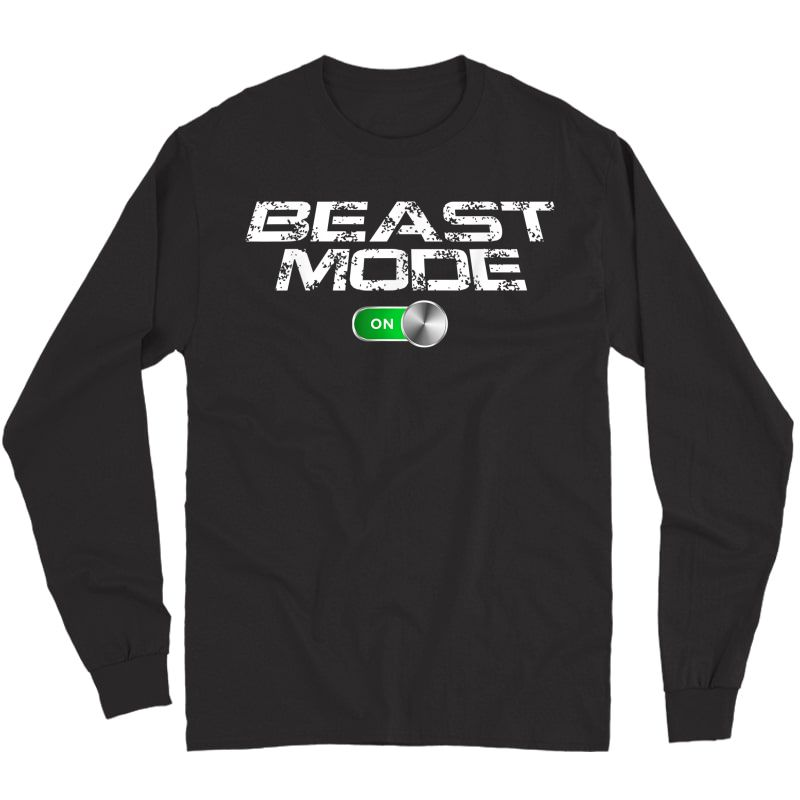 Beast Workout Mode Style Ripped Yoga Locker Healthy Nieces T-shirt Long Sleeve T-shirt