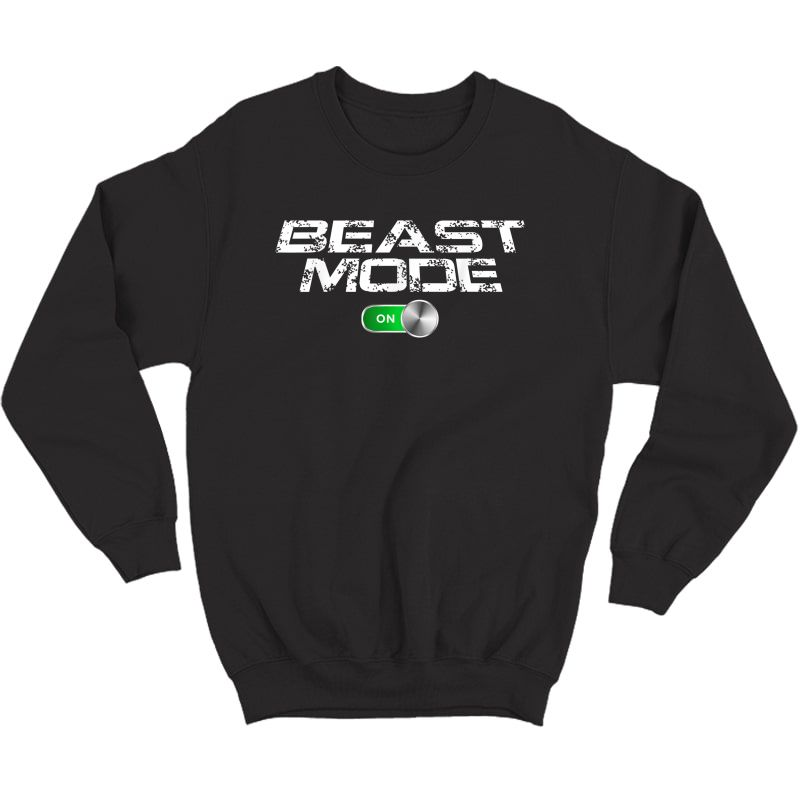Beast Workout Mode Style Ripped Yoga Locker Healthy Nieces T-shirt Crewneck Sweater