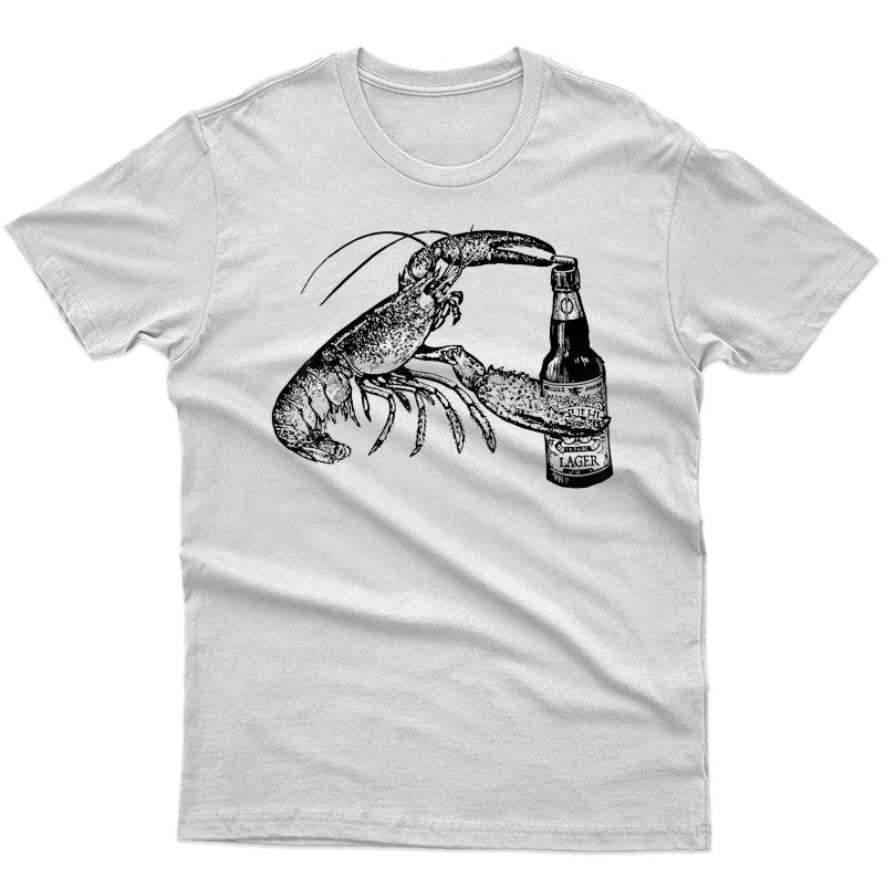 Beer Drinking Lobster Funny Craft Beer T-shirt