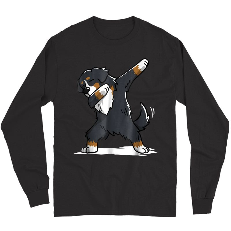 Bernese Mountain Dog T-shirt Dab Dance Gift Shirt Long Sleeve T-shirt