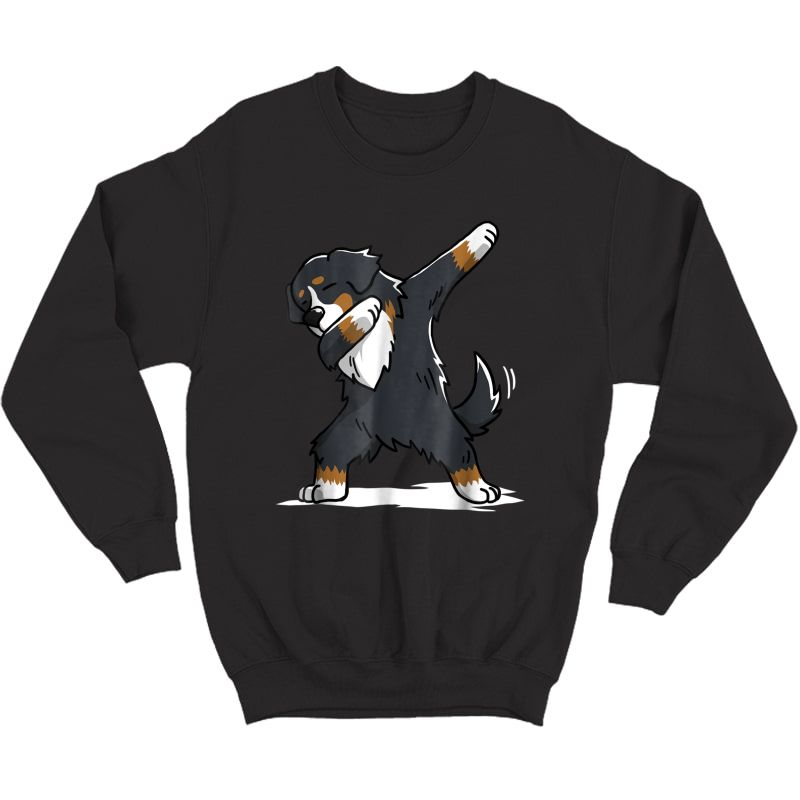 Bernese Mountain Dog T-shirt Dab Dance Gift Shirt Crewneck Sweater