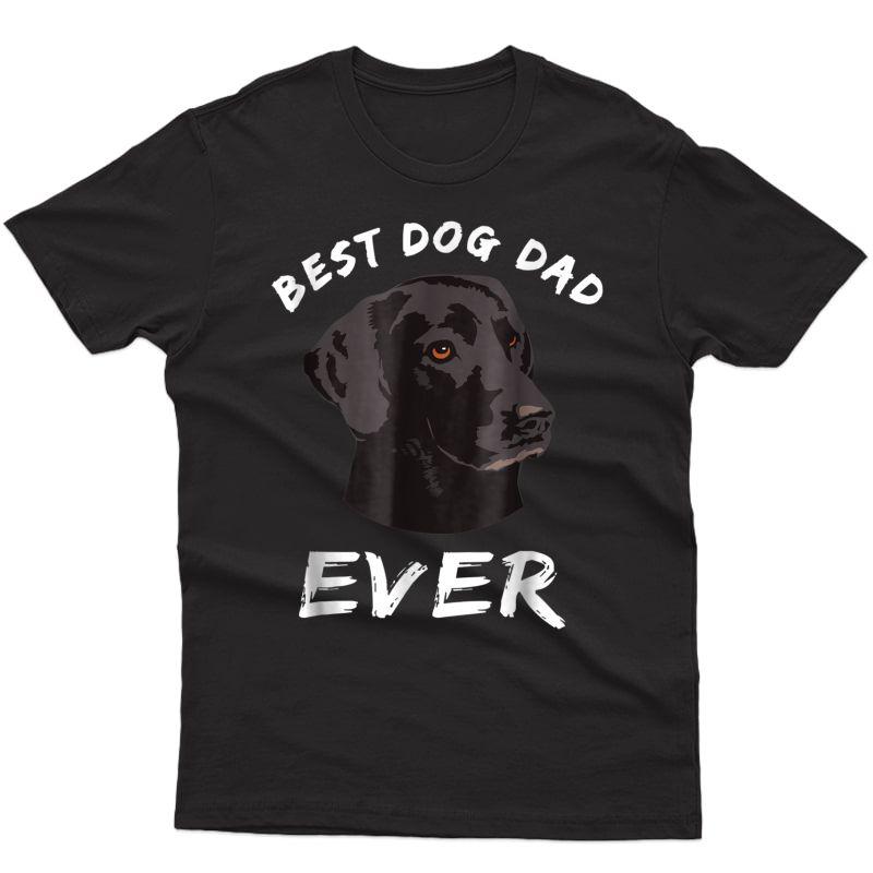 Best Dog Dad Ever Black Lab T-shirt
