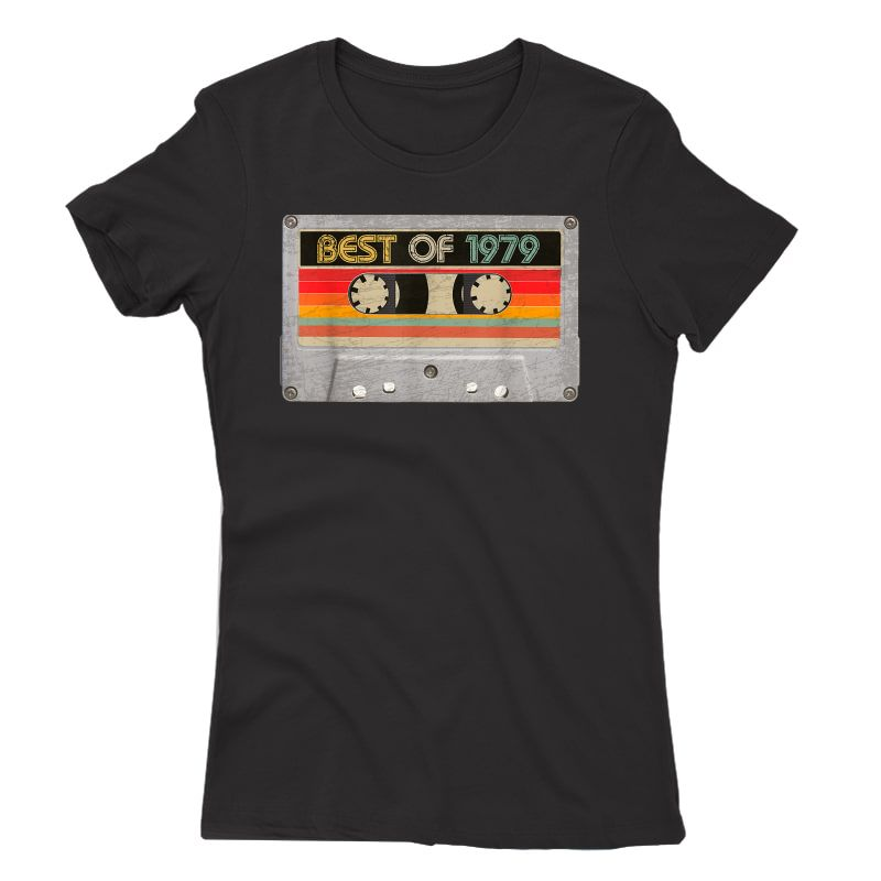 Best Of 1979 42nd Birthday Gifts Cassette Tape Vintage T-shirt