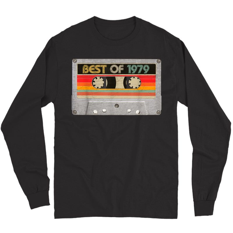 Best Of 1979 42nd Birthday Gifts Cassette Tape Vintage T-shirt Long Sleeve T-shirt
