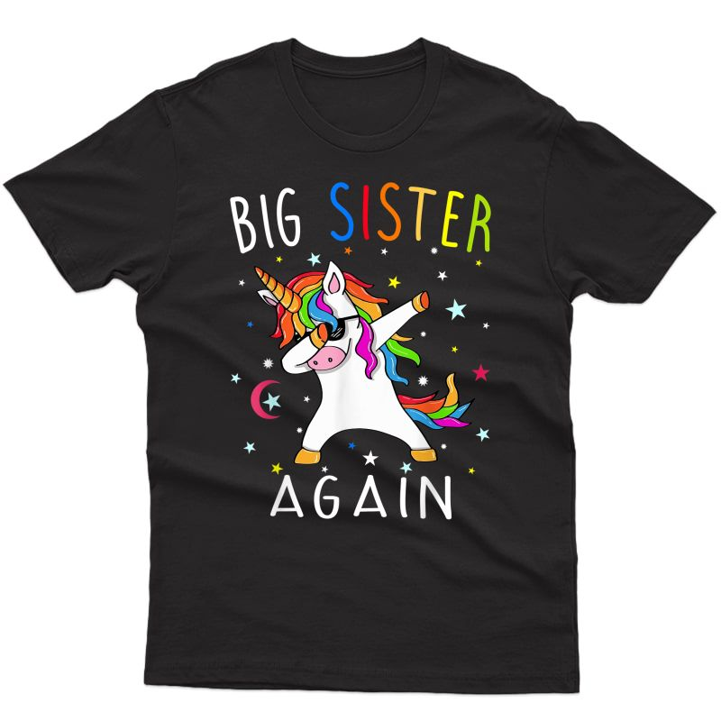 Big Sister Again T-shirt - Sibling Older Daughter Shirt Gift T-shirt