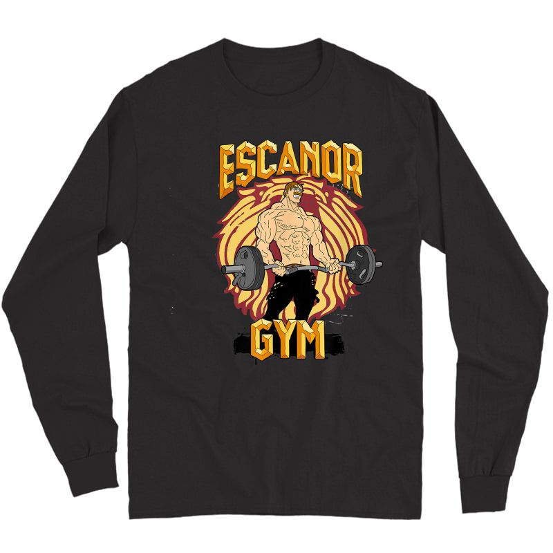 Bodybuilding Escanor Gym Pride T-shirt Long Sleeve T-shirt