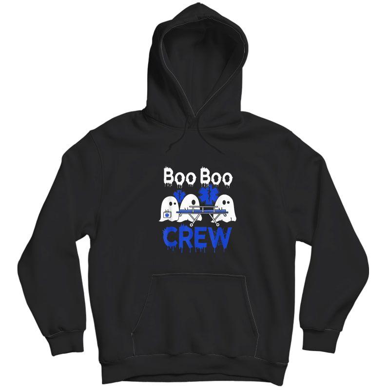 Boo Boo Crew Ghost Paramedic Emt Ems Nurse Halloween Tshirt Unisex Pullover Hoodie