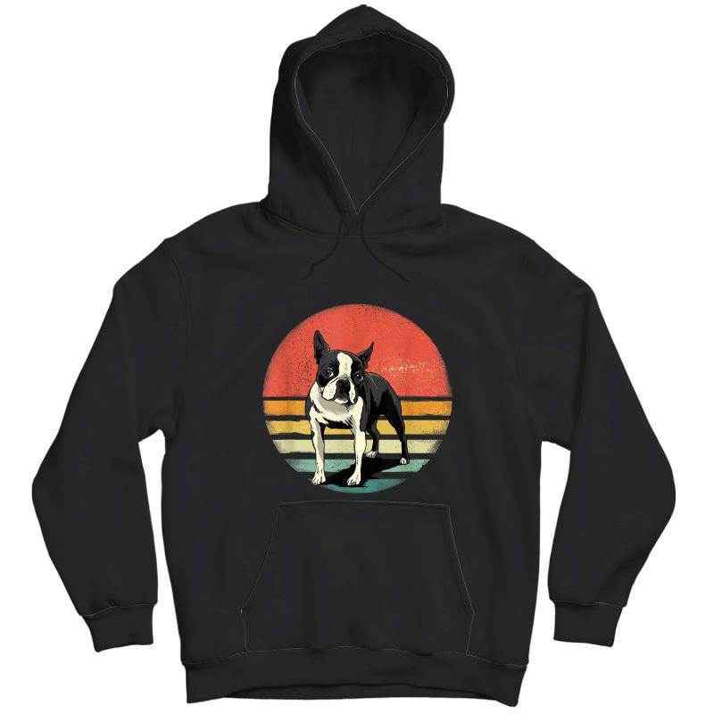 Boston Terrier Dog Lover Retro Vintage 70s Dog Pet T-shirt Unisex Pullover Hoodie