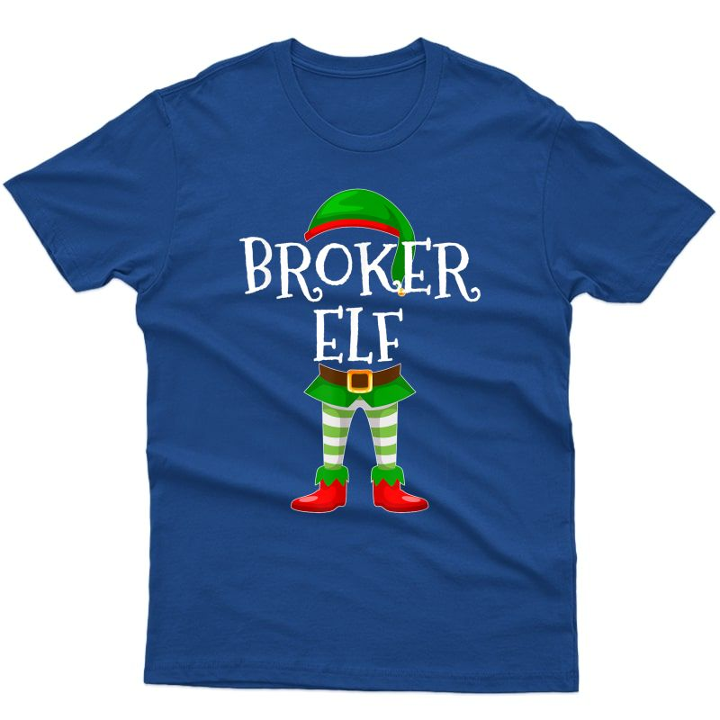 Broker Elf Matching Family Christmas Gift Design T-shirt