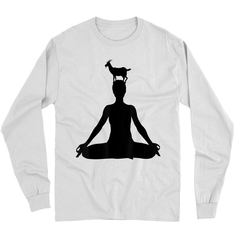 Chakra Yoga Funny Goat Yoga - Goat Yoga T-shirt Long Sleeve T-shirt