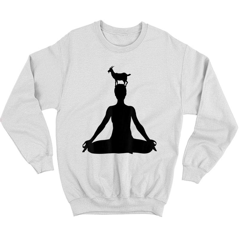 Chakra Yoga Funny Goat Yoga - Goat Yoga T-shirt Crewneck Sweater
