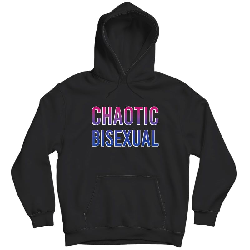 Chaotic Bisexual Pride Flag T-shirt Unisex Pullover Hoodie