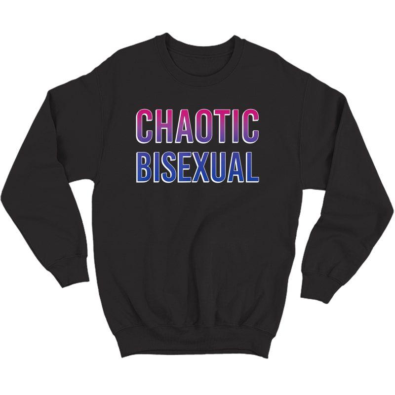 Chaotic Bisexual Pride Flag T-shirt Crewneck Sweater