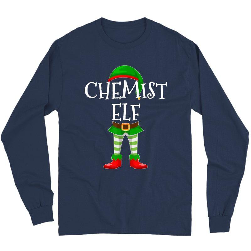 Chemist Elf Matching Family Christmas Gift Design T-shirt Long Sleeve T-shirt