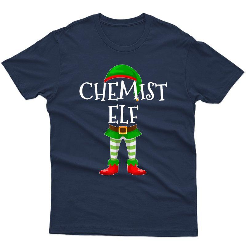 Chemist Elf Matching Family Christmas Gift Design T-shirt