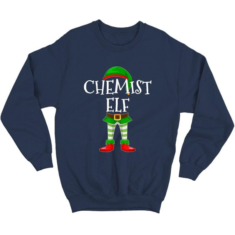 Chemist Elf Matching Family Christmas Gift Design T-shirt Crewneck Sweater