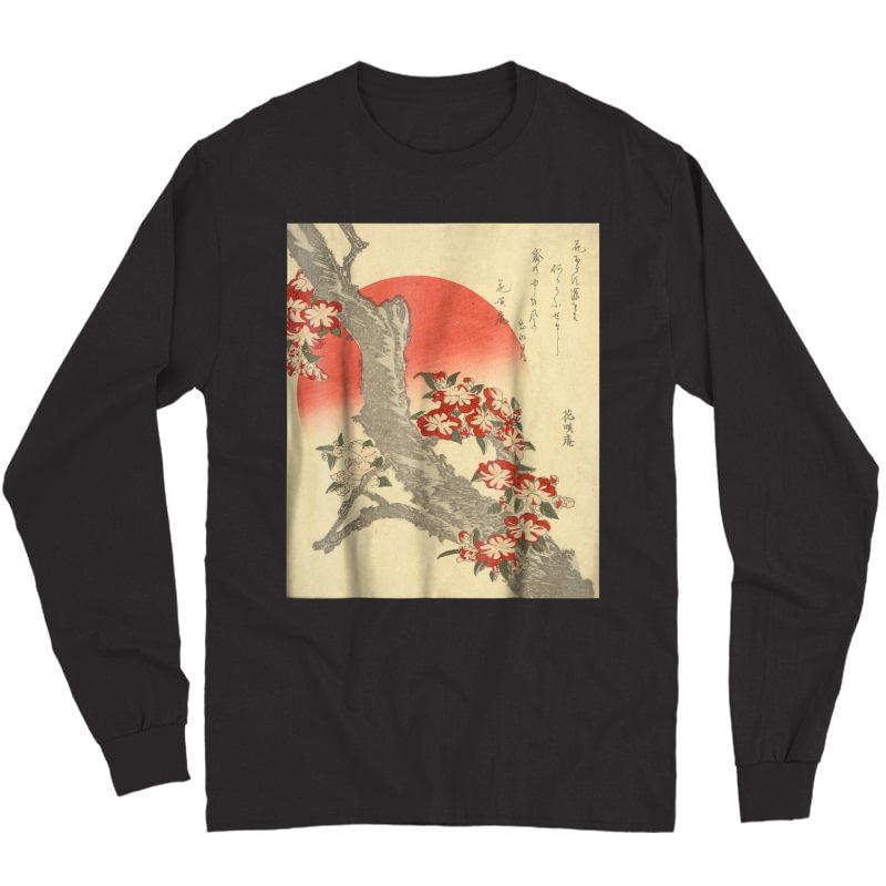 Ry Blossoms Katsushika Hokusai, W/ Poem By Tawara, Tokyo Shirts Long Sleeve T-shirt