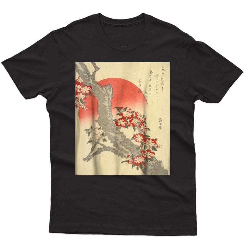 Ry Blossoms Katsushika Hokusai, W/ Poem By Tawara, Tokyo Shirts
