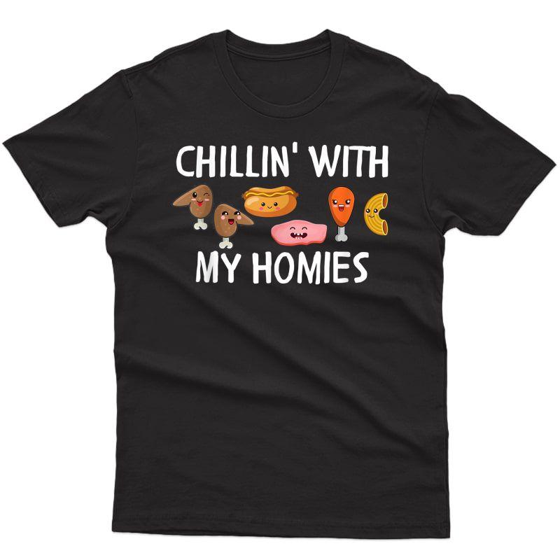 Chicken Wing Hotdog Bologna Chicken Macaroni, Chillin Kawaii T-shirt