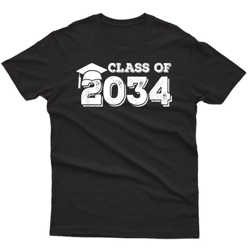 Class Of 2034 Shirt Senior Graduation 2034 T-shirt