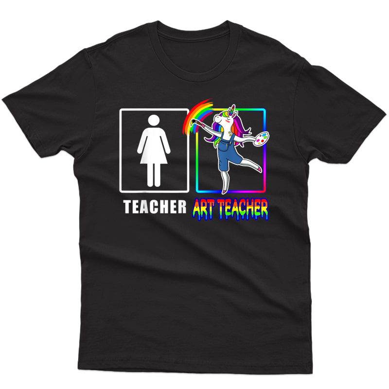Cute Art Tea Magical Dabbing Unicorn Gift Funny Artist T-shirt
