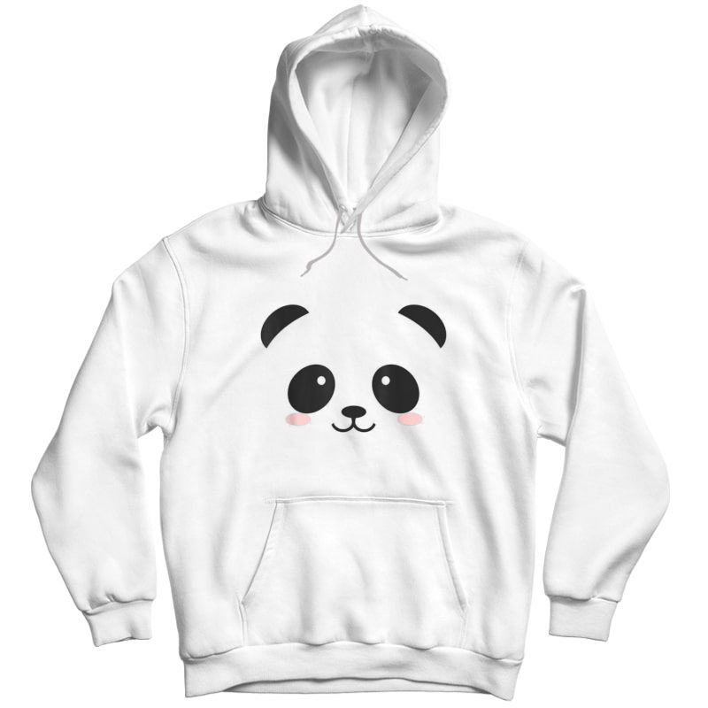 Cute Halloween Panda Bear Face T-shirt Costume Gift T-shirt Unisex Pullover Hoodie