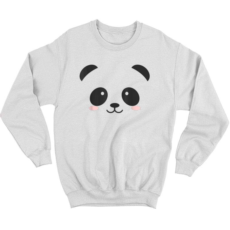 Cute Halloween Panda Bear Face T-shirt Costume Gift T-shirt Crewneck Sweater