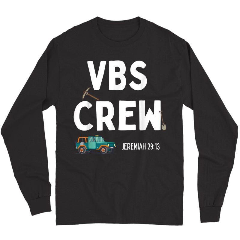 Cute Vbs Digging Crew 2021 Vacation Bible School Archaeology T-shirt Long Sleeve T-shirt