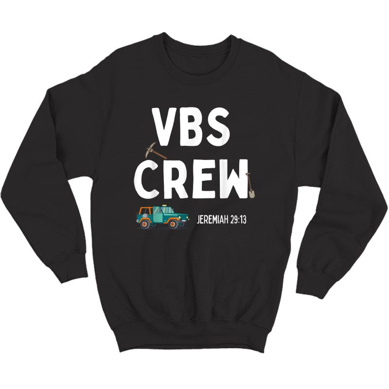 Cute Vbs Digging Crew 2021 Vacation Bible School Archaeology T-shirt Crewneck Sweater