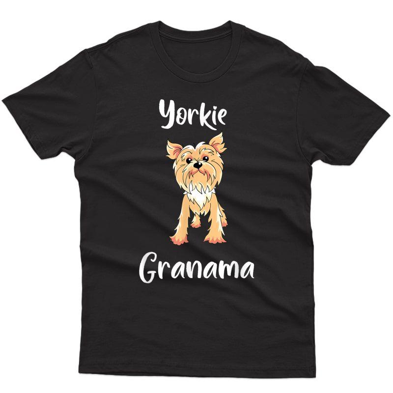 Cute Yorkie Grandma Dog Mom Gift T-shirt