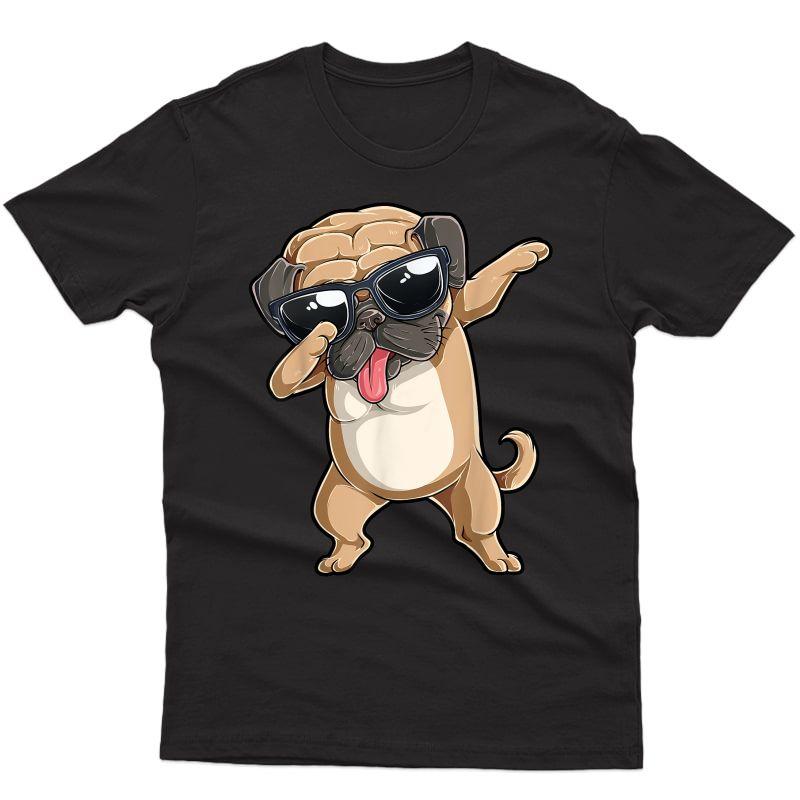 Dabbing Pug Shirt Girls Pugs Dab Dance Dog Puppy Lovers
