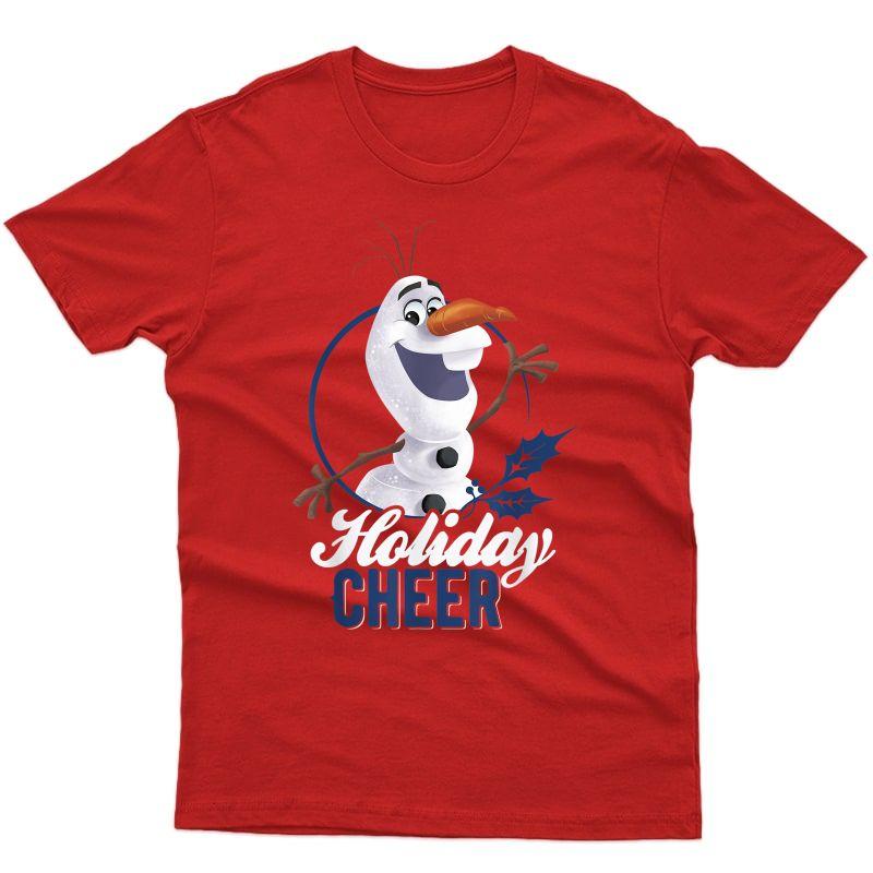 Disney Frozen Olaf Circle Logo Holiday Cheer Christmas T-shirt
