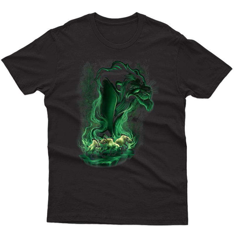 Disney Lion King Scar Smoke Graphic T-shirt