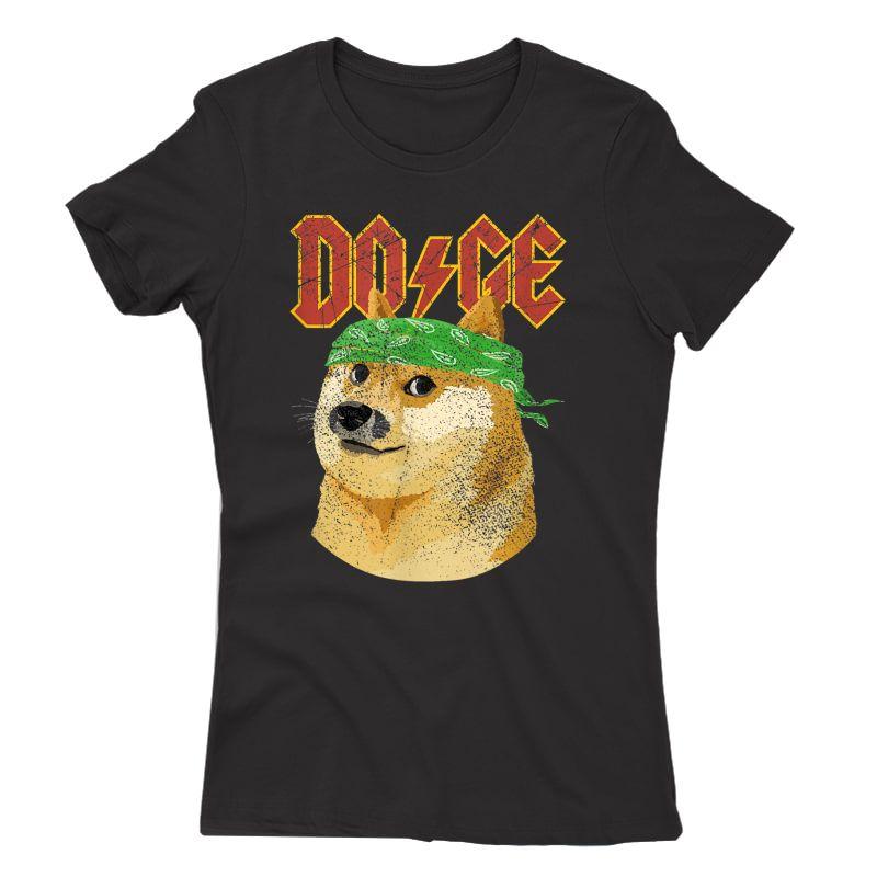 Doge Shirt   Dog Dogecoin   Doge Meme T-shirt
