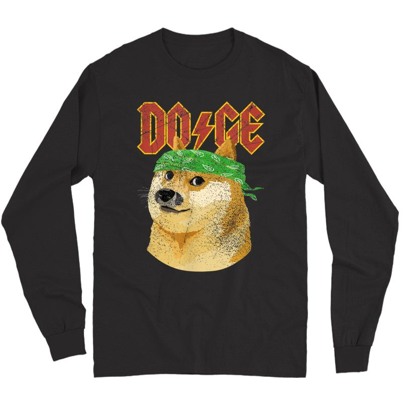 Doge Shirt   Dog Dogecoin   Doge Meme T-shirt Long Sleeve T-shirt
