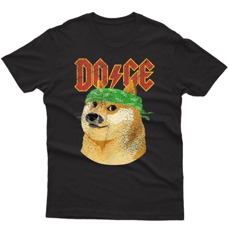 Doge Shirt | Dog Dogecoin | Doge Meme T-shirt