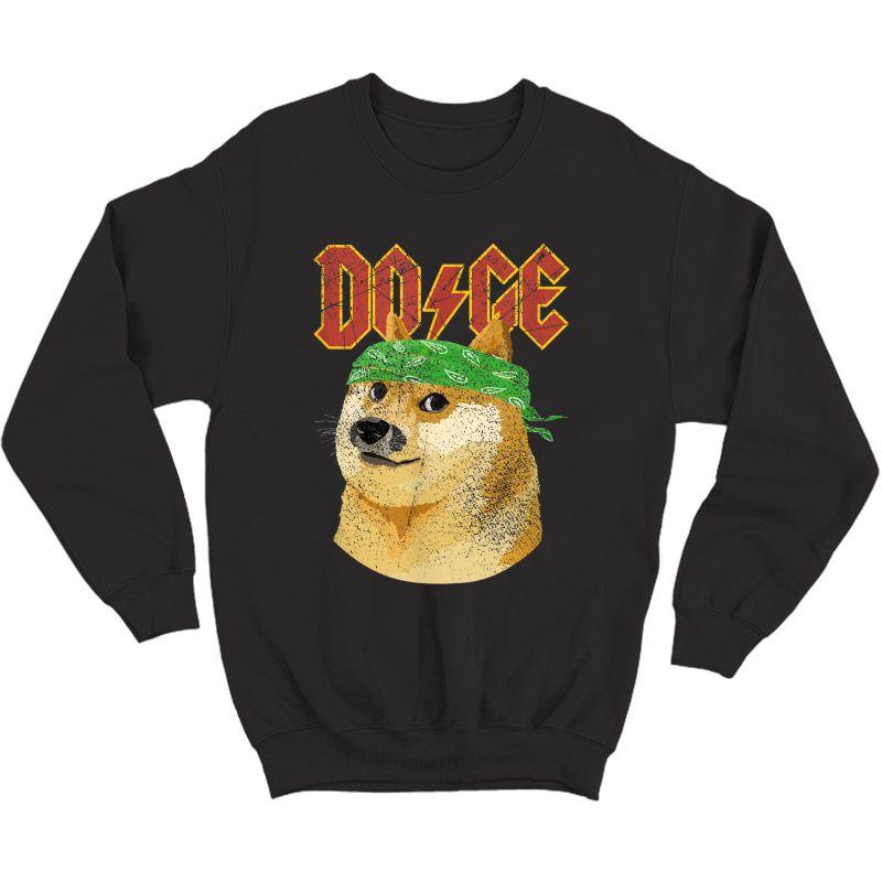 Doge Shirt   Dog Dogecoin   Doge Meme T-shirt Crewneck Sweater