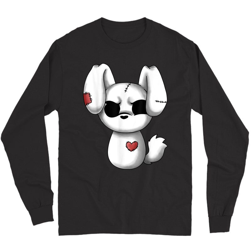 Emo Chibi Shirt Kawaii Easter Goth Emo Bunny T-shirt Long Sleeve T-shirt