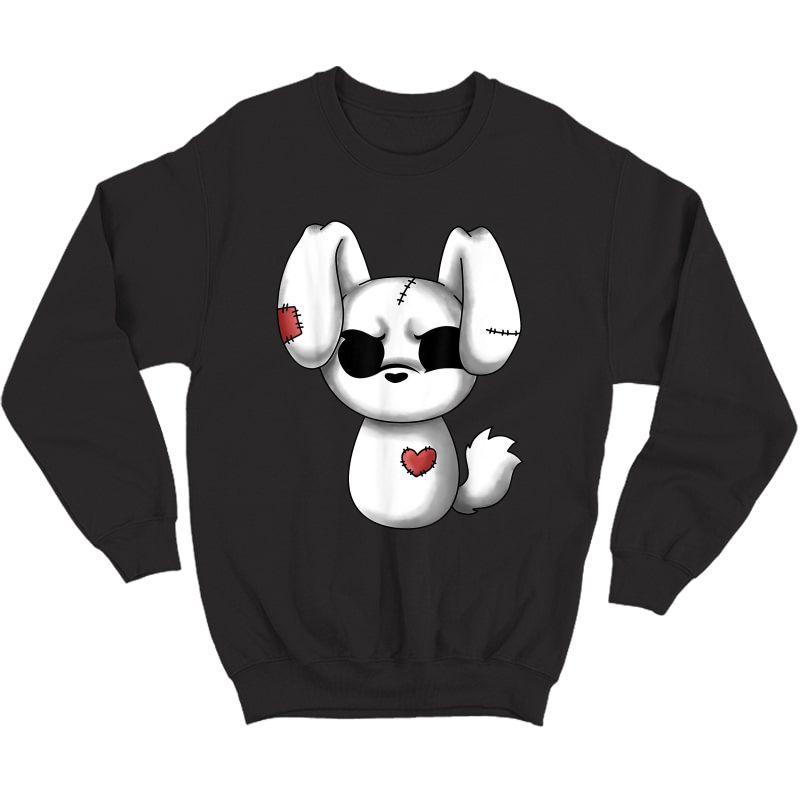 Emo Chibi Shirt Kawaii Easter Goth Emo Bunny T-shirt Crewneck Sweater