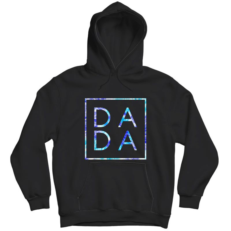 Father's Day For New Dad, Dada, Him - Coloful Tie Dye Dada T-shirt Unisex Pullover Hoodie