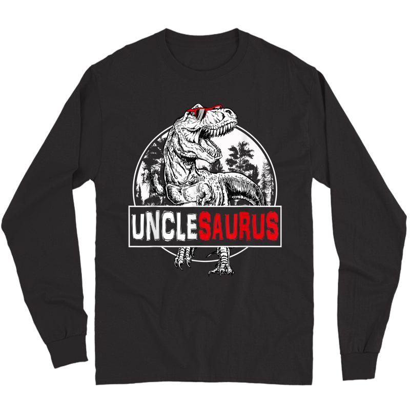 Father's Day Unclesaurus T Rex Dinosaur Uncle Saurus T-shirt Long Sleeve T-shirt