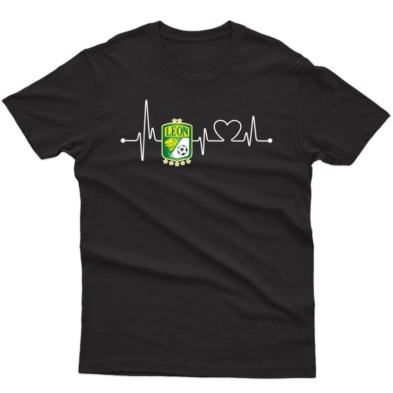 Fc Club Leon Heartbeat Latido Atlas Football Club Orgullo T-shirt