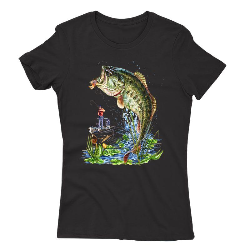 Fishing Graphic T-shirt Mouth Bass Fish Gift T-shirt